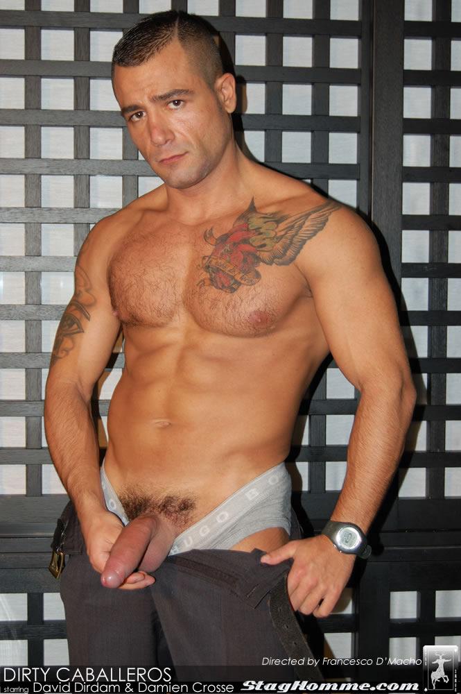 Damien Crosse David Dirdam Stag Homme Hot Muscled Men Gay sex 01 - Damien Crosse and David Dirdam