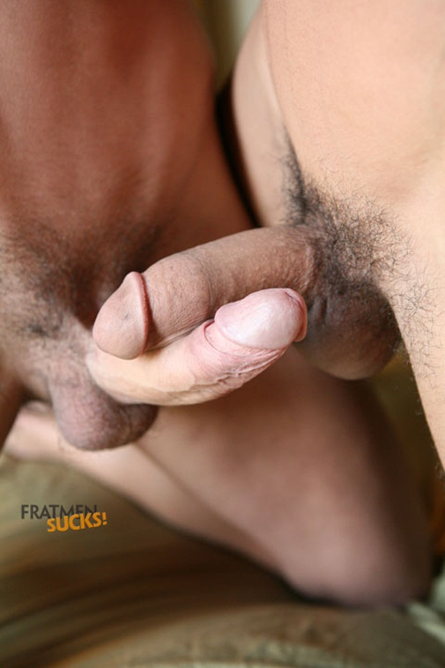 Fratmen Neil Fratmen Benji 004 Young Naked Boy Twink Strips Naked and Strokes His Big Hard Cock for at Fratmen Sucks photo Fratmen Sucks: Benji and Neil, taking turns, sucking cock!