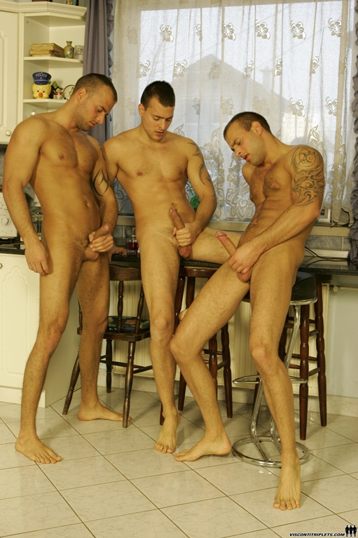 Viconti-Triplets-trio-gay-porn-orgy002-Young-nude-Boy-Twink-Strips-Naked-and-Strokes-His-Big-Hard-Cock-for-at-photo