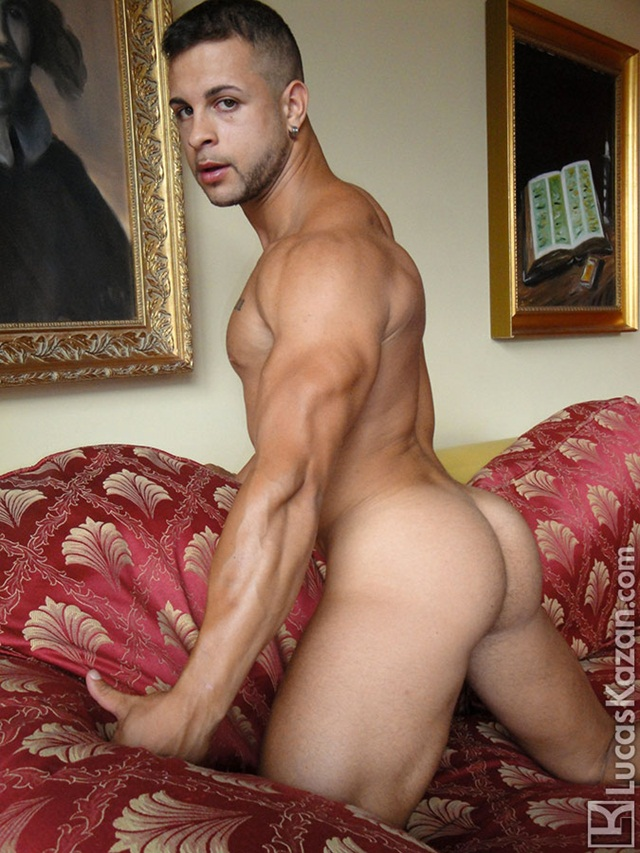 Butt-beautiful-Cristian-glorious-buttocks-at-Lucas-Kazan-1-Ripped-Muscle-Bodybuilder-Strips-Naked-and-Strokes-His-Big-Hard-Cock-photo