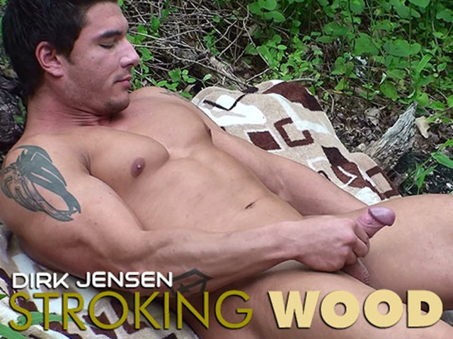 Dirk-Jenson-stroking-wood-at-Mission-4-Muscle-1-Ripped-Muscle-Bodybuilder-Strips-Naked-and-Strokes-His-Big-Hard-Cock-photo