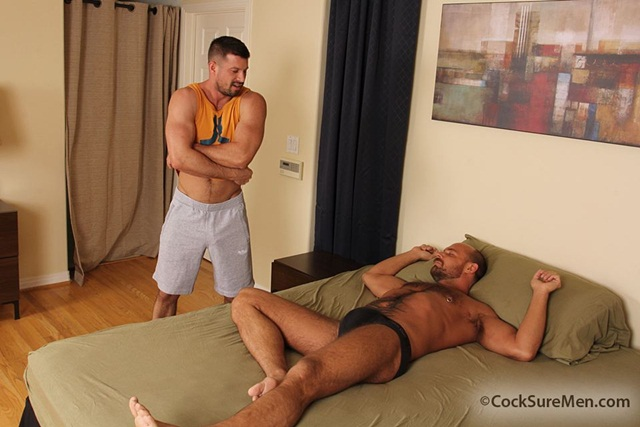 Jake Deckard and Kyle King at Cocksure Men 1 Ripped Muscle Bodybuilder Strips Naked and Strokes His Big Hard Cock photo1 - Jake Deckard and Kyle King at Cocksure Men