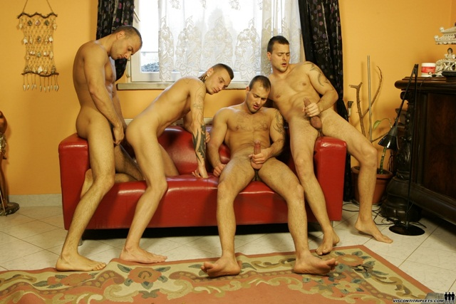 Jason-Visconti,-Jimmy-Visconti,-Joey-Visconti-at-Visconti-Triplets-2-Ripped-Muscle-Bodybuilder-Strips-Naked-and-Strokes-His-Big-Hard-Cock-photo