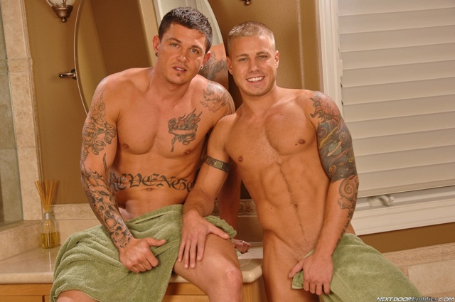 Sebastian Young and Brody Wilder at Next Door Buddies 2 Ripped Muscle Bodybuilder Strips Naked and Strokes His Big Hard Cock photo1 - Sebastian Young and Brody Wilder at Next Door Buddies