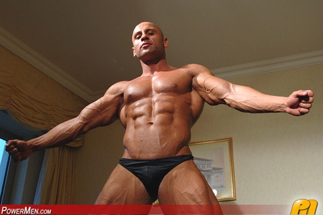 Yakov-Mukileck-at-Powermen-1-Ripped-Muscle-Bodybuilder-Strips-Naked-and-Strokes-His-Big-Hard-Cock-photo