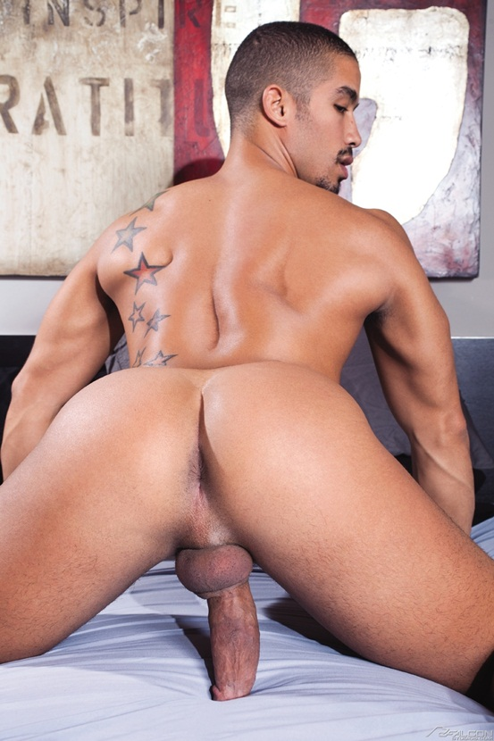Landon Conrad finds dark sexy stud Trey Turner knows how to ride a cock