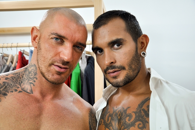 Lucio-Saints-and-Francesco-DMacho-at-the-Gay-Office-men-in-suits-02-Ripped-Muscle-Bodybuilder-Strips-Naked-and-Strokes-His-Big-Hard-Cock-torrent-photo