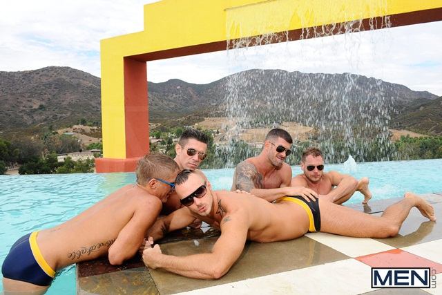 Poolside-orgy-with-Philip-Aubrey-Adam-Killian-Jessie-Colter-Trenton-Ducati-and-Hans-Berlin-02-Ripped-Muscle-Bodybuilder-Strips-Naked-and-Strokes-His-Big-Hard-Cock-torrent-photo