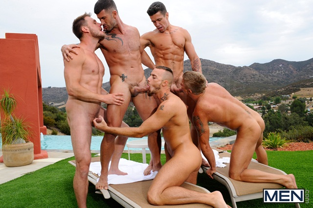 Poolside-orgy-with-Philip-Aubrey-Adam-Killian-Jessie-Colter-Trenton-Ducati-and-Hans-Berlin-03-Ripped-Muscle-Bodybuilder-Strips-Naked-and-Strokes-His-Big-Hard-Cock-torrent-photo