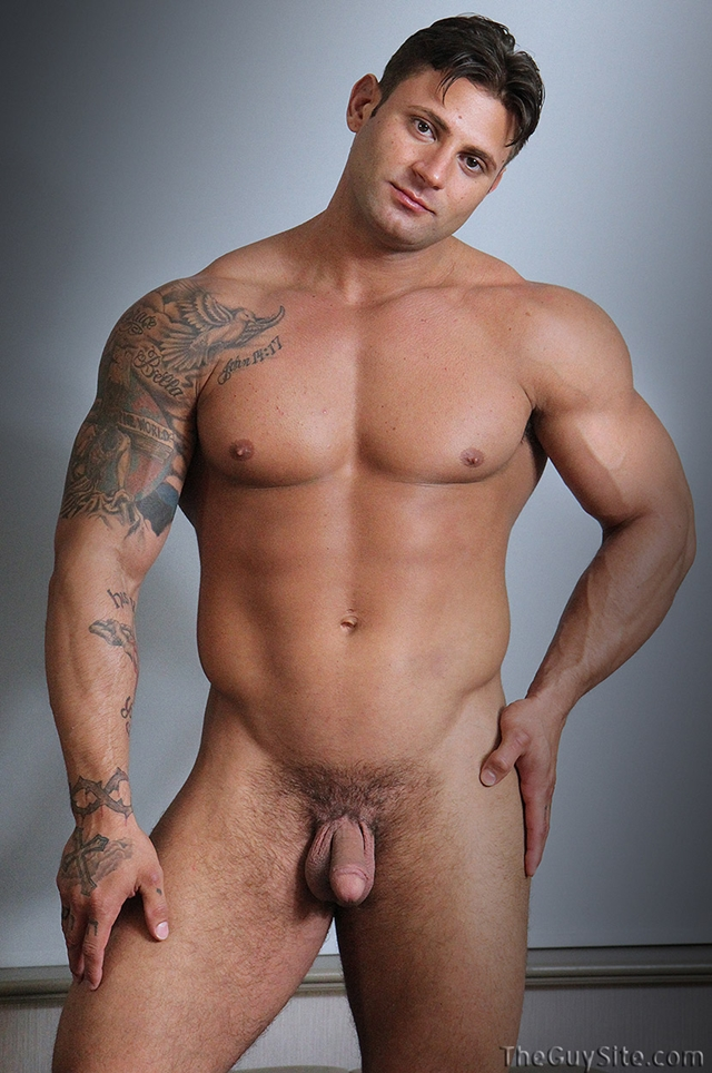 Rock hard ripped body Mike Buffalari beats his meat at The Guy Site 02 Ripped Muscle Bodybuilder Strips Naked and Strokes His Big Hard Cock torrent photo1 - Rock hard ripped body Mike Buffalari beats his meat