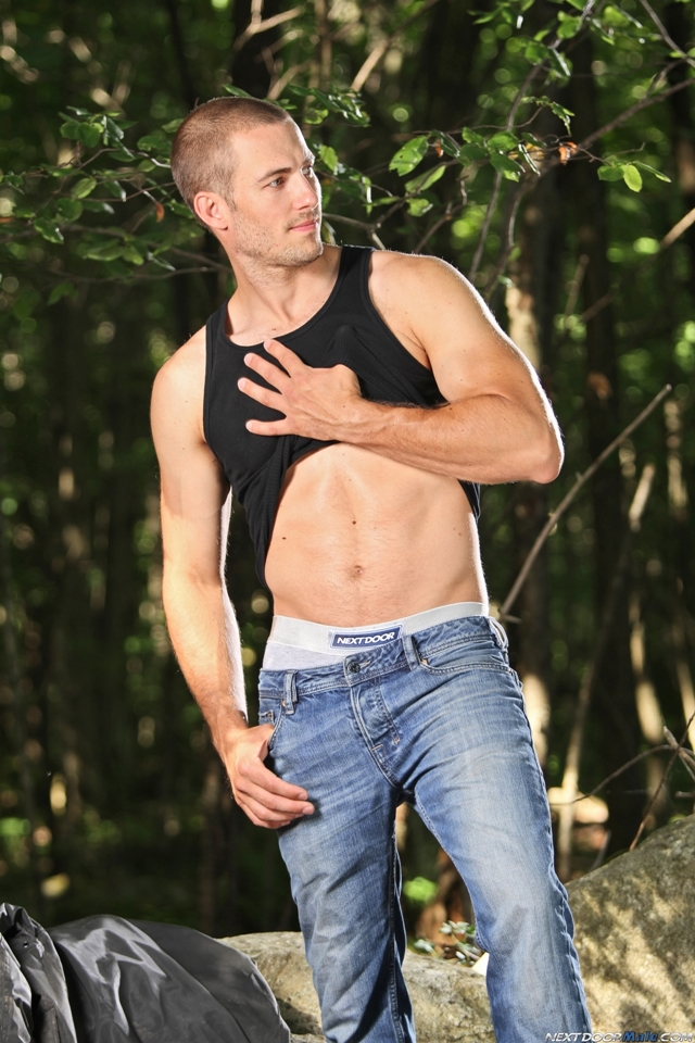 Cute furry chested young hunk Alexi Auclair at Next Door Male 1 Ripped Muscle Bodybuilder Strips Naked and Strokes His Big Hard Cock torrent photo1 - Cute furry chested young hunk Alexi Auclair