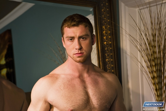 Hairy young muscle stud Connor Maguire at Next Door Male