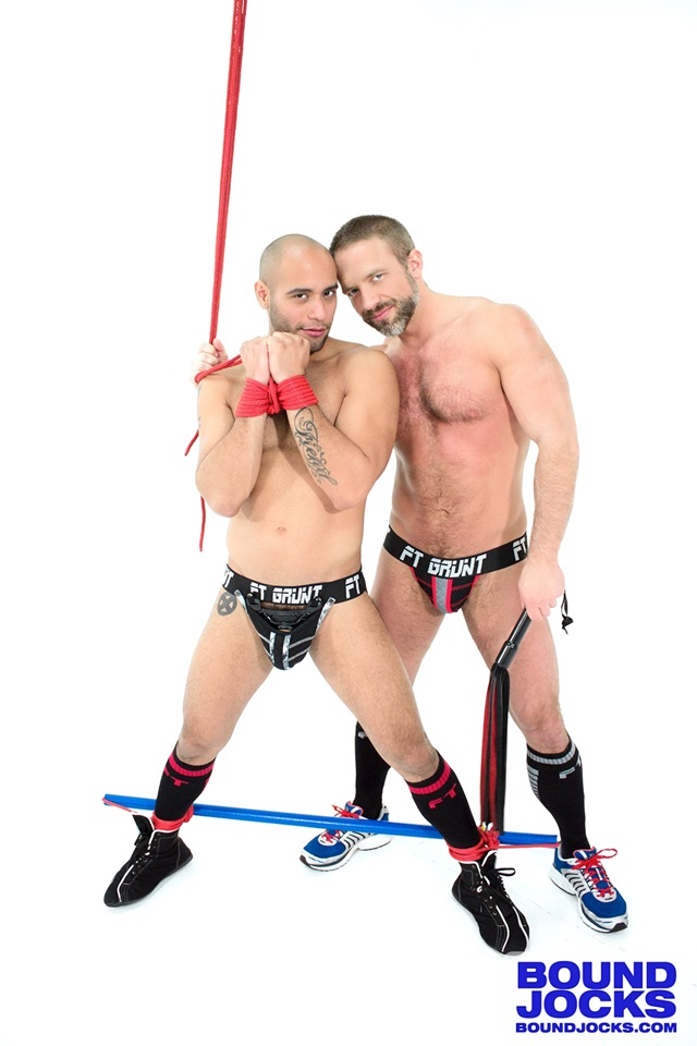 Dirk Caber and Leo Forte Bound Jocks muscle hunks bondage gay bottom boy fucking hogtied spanking bdsm anal abuse punishment asshole abused 002 gallery video photo - Dirk Caber and Leo Forte