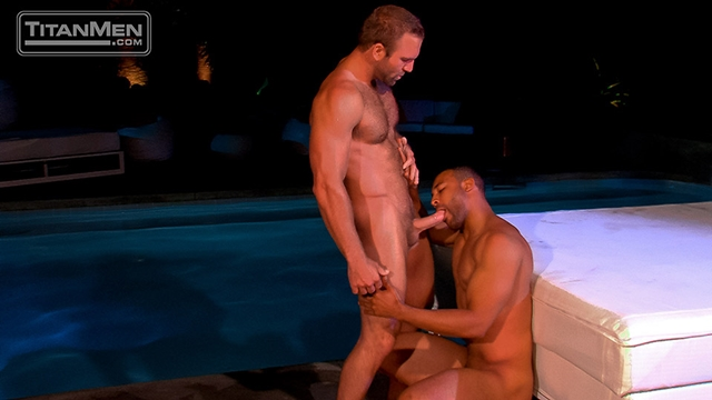 Titan Men Tom Wolfe cock Jay Bentley whips fucking bottom hard cock rides ass hairy chested hunks 001 male tube red tube gallery photo - Jay Bentley and Tom Wolfe