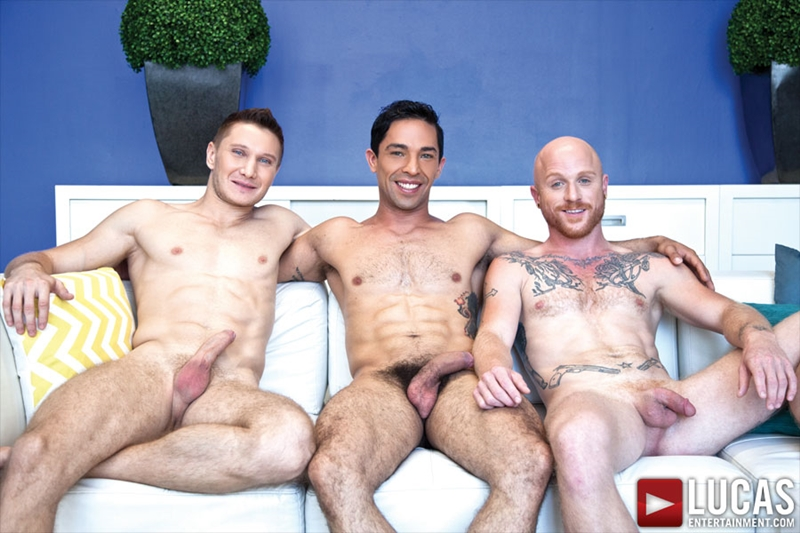 LucasEntertainment Comrad Blu Mikoah Kan Brock Rustin suck blowjobs fucks rimming eats asshole naked men 001 tube download torrent gallery sexpics photo - Comrad Blu, Mikoah Kan and Brock Rustin