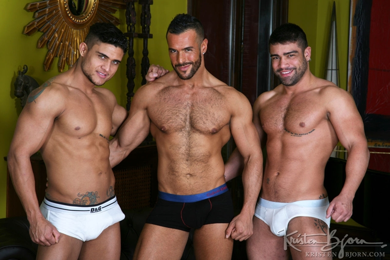 KristenBjorn gay porn stars Wagner Vittoria Diego Lauzen Denis Vega sucks cock hungry hole ass thick cum load 001 tube video gay porn gallery sexpics photo - Wagner Vittoria, Diego Lauzen and Denis Vega