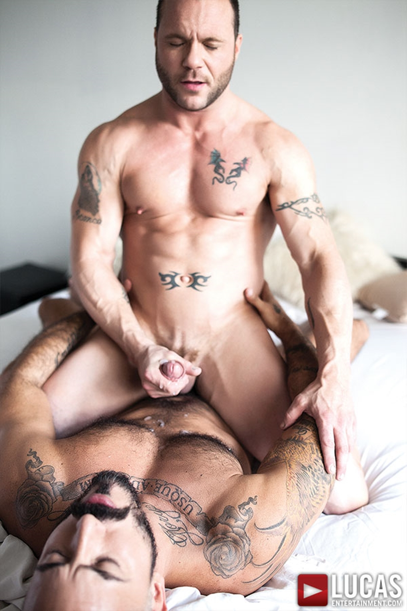 LucasEntertainment Alessio Romero muscle bear big raw cock bare fucking bottom stud Drew Sumrok fucked bareback 018 tube video gay porn gallery sexpics photo - Alessio Romero pounds Drew Sumrok