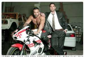MenatPlay Sexy tattoo Axel Brooks motorbike rider Flex Xtremmo leather Power bottom muscle cock asshole huge cumshot 001 tube video gay porn gallery sexpics photo 300x200 - Blue Bailey and Marcus Ruhl