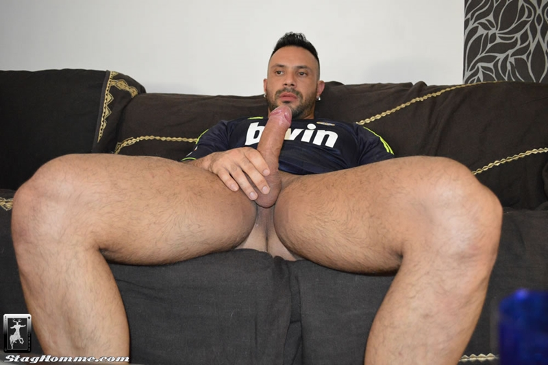 StagHomme Antonio Aguilera Flex gay porn horny big hard on gym buddy stroking meaty hung cock mouth muscle hunks fucking 001 tube video gay porn gallery sexpics photo - Tattooed muscle studs Antonio Aguilera and Flex fuck