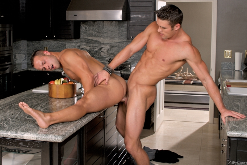 Sexy kitchen anal gay