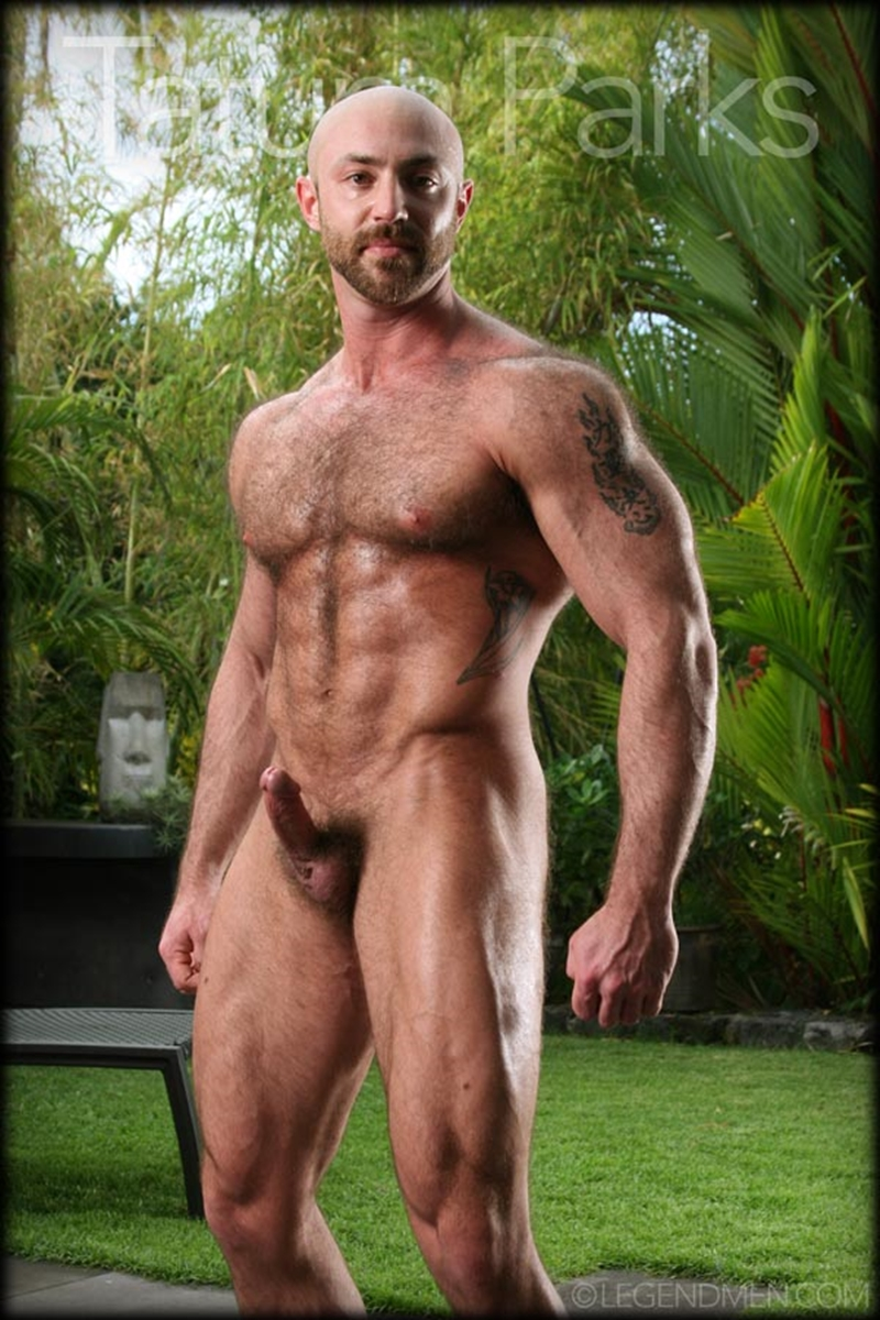LegendMen big muscle naked bodybuilder Tatum Parks muscle men hairy chested v shaped ripped abs fucker top man huge muscle dick 007 gay porn video porno nude movies pics porn star sex photo - Hairy big muscle bodybuilder Tatum Parks jerks out a huge cum load