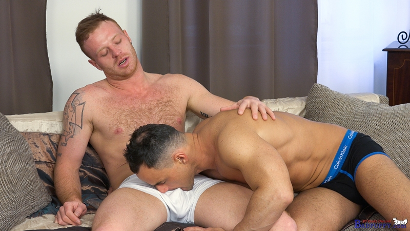 BadPuppy ginger red headed Tom Vojak hottie bottom Martin Porter oral blowjob hairy man hole big dick sucking rimming ass fucking kink 002 gay porn video porno nude movies pics porn star sex photo - Gay barebacking Tom Vojak and Martin Porter hardcore ass fuck orgy