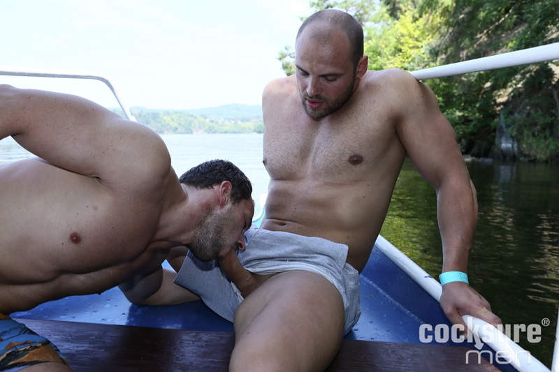 CocksureMen Beefy stud Thomas Ride muscle jock Andy West huge thick uncut cock 7 inch raw ass bareback fucking doggy style cocksucker 01 gay porn star sex video gallery photo - Thomas Ride bareback raw ass fucking Andy West's tight muscle asshole