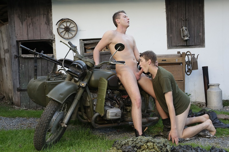 Staxus naked young boys Roman Smid boy Oscar Ricci huge twink dick army bareback raw fucking rimming tight boy ass hole army boots 09 gay porn star sex video gallery photo2 - Oscar Ricci deep throats Roman Smid's closely shaved big cock