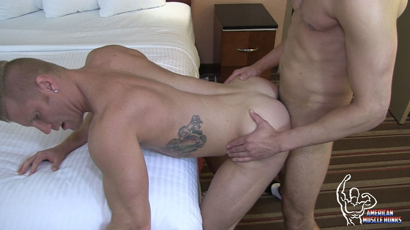 AmericanMuscleHunks FX Rios muscled HUNK Johnny V ripped muscles monster 9 inch cock cocksucker blow jobs ass fuck blows cum load 15 gay porn star sex video gallery photo - FX Rios bends Johnny V over the bed and pounds him until Johnny blows his load