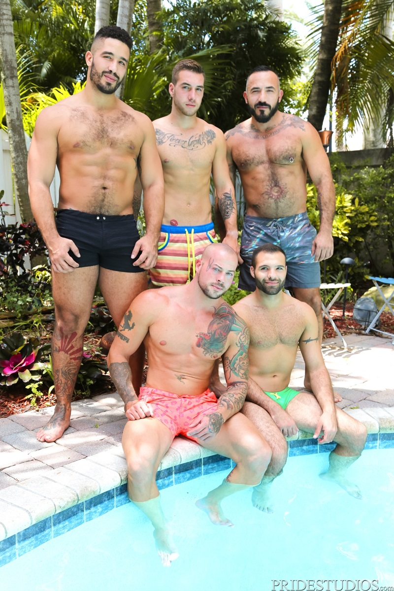 MenOver30 Trey Turner Braxton Smith Alessio Romero ass swim trunks hot bum rimming tight butt rock hard big dick fucking cum load orgasm 02 gay porn star sex video gallery photo - Hardcore threesome ass fucking orgy Braxton Smith, Trey Turner and Alessio Romero