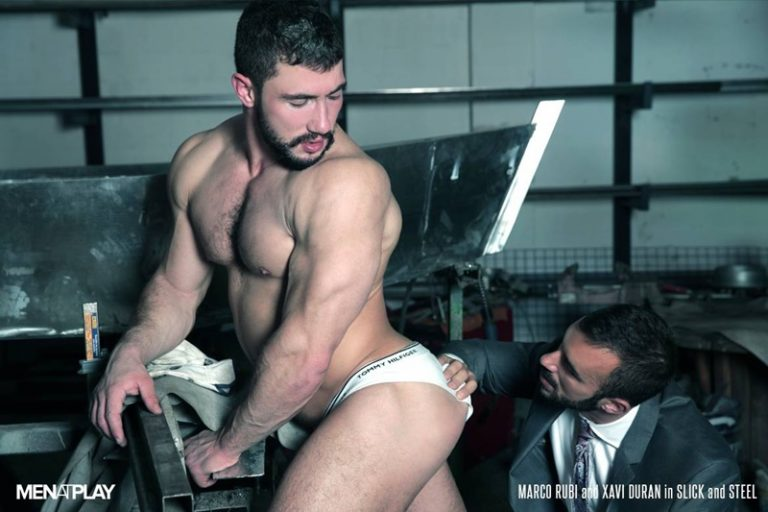 MenatPlay hung suited nude muscle hunk Marco Rubi Xavi Duran hard erect dick bottom boy tight ass fucking hard on anal assplay rimming 01 gay porn star tube sex video torrent photo 768x512 - Sexiest muscle bottom boy Marco Rubi returns getting his ass fucked by Xavi Duran