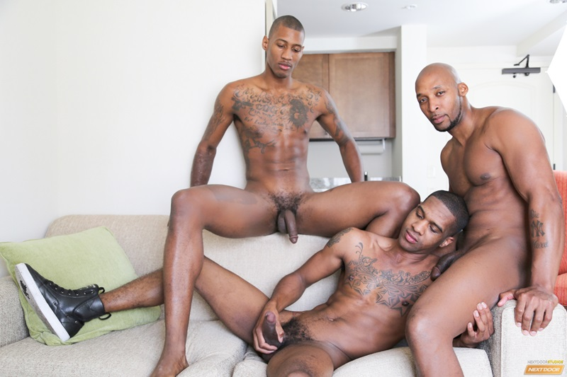 NextDoorEbony naked black hunks King B Ramses Staxx fat ebony cock tight muscle licks ass hole rimming fucking cocksucker anal assplay 01 gay porn star tube sex video torrent photo - Staxx fucks King B while Ramsees enjoys King's tongue in his ass