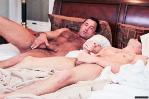IconMale Nick Capra Hunter Page six pack abs flat stomach hard big erect long uncut cock foreskin hairy muscled ass hole cum men kissing 002 gay porn tube star gallery video photo 300x200 - Young twink Joey Devon pops his cherry with Austin Wilde