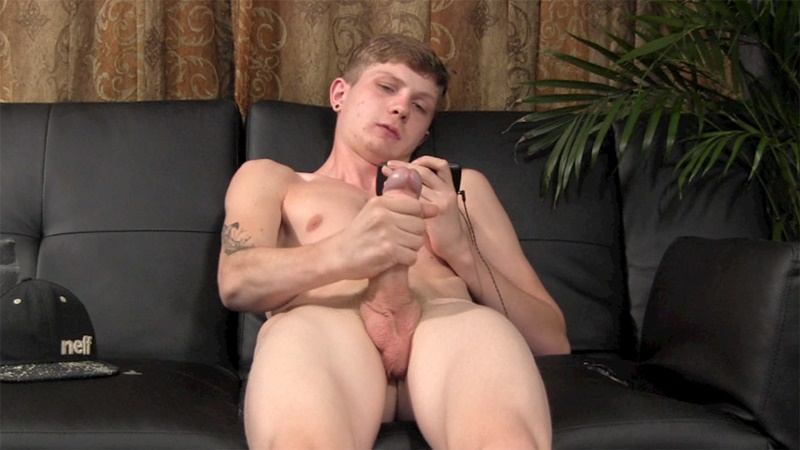 StraightFraternity sexy naked dude Nico Stiles young straight guys dancer big dick stroke solo jerk off sneakers underwear baseball cap 002 gay porn tube star gallery video photo - Young naked stud Nico Stiles jerks his huge dick