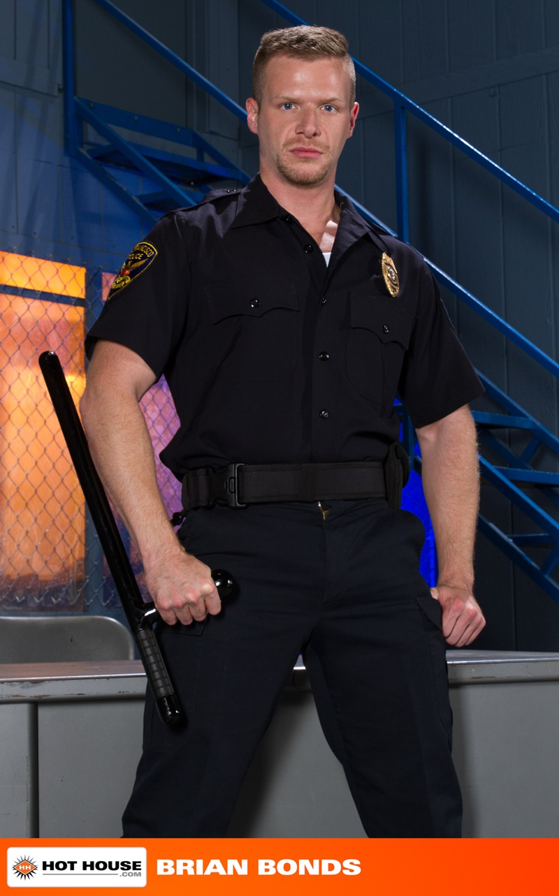 Hothouse naked police officers uniform Johnny V Brian Bonds stroking big thick cock sex hungry cops spreads ass wide open fucking ass hole 002 gay porn sex gallery pics video photo - Johnny V fucks Officer Brian Bonds' tight muscled ass hole