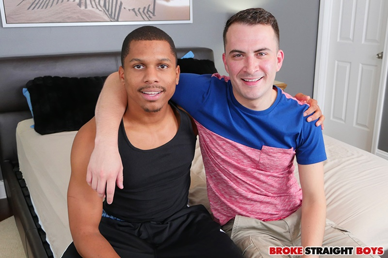 Sexy young white stud David Hardy rides Chaz Berling's huge bareback black dick