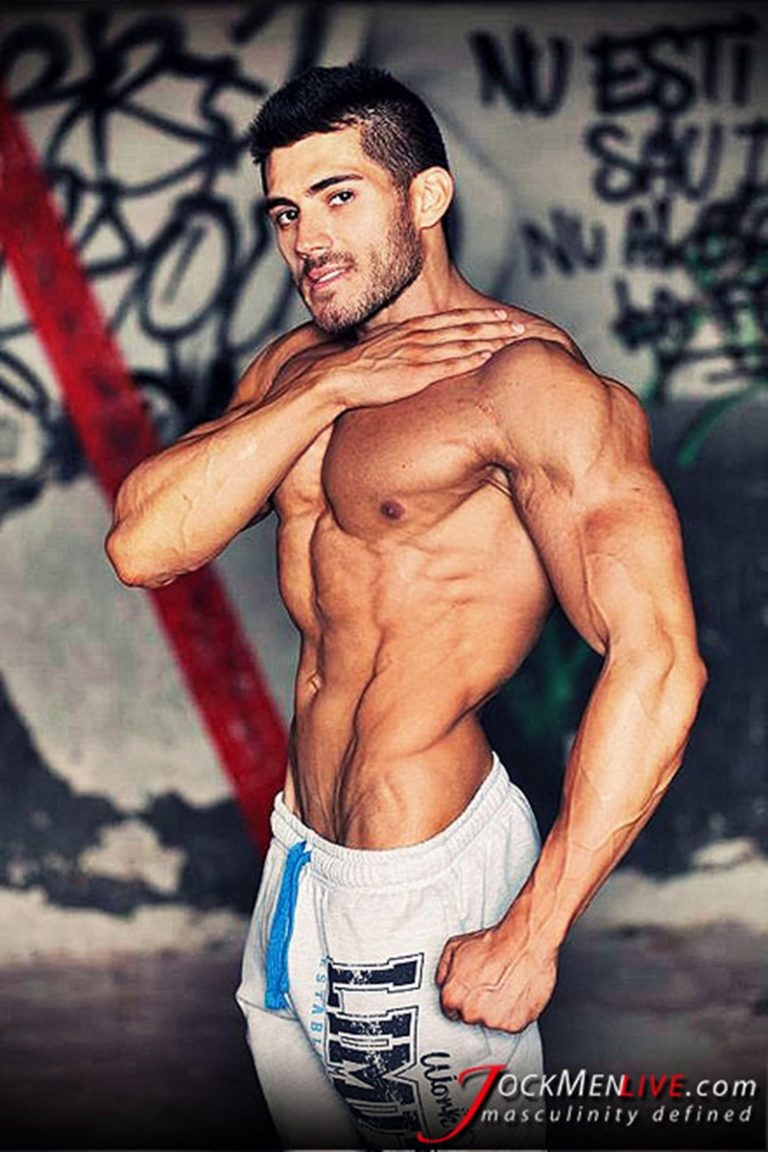 JockMenLive jock men live shredded muscle show Johnny Cool massive muscle bodybuilder naked muscleman huge arms lats ripped abs 001 gay porn sex gallery pics video photo 768x1152 - Jock Men Live 26 years old Romanian bodybuilder Johnny Cool ripped shredded big muscle man
