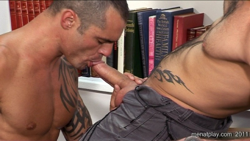MenatPlay movie French Lessons tattooed muscle hunks Harry Louis Issac Jones huge thick uncut dick ripped muscled butt anal rimming 022 gay porn sex gallery pics video photo - Men at Play - French Lessons with Harry Louis and Issac Jones