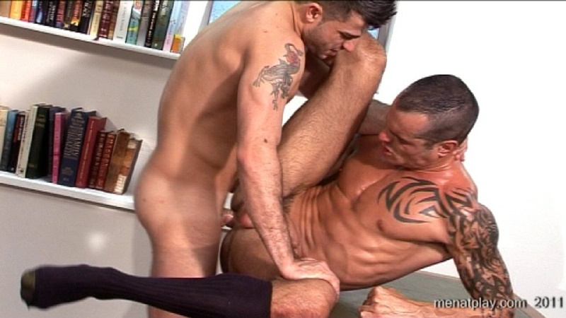 MenatPlay movie French Lessons tattooed muscle hunks Harry Louis Issac Jones huge thick uncut dick ripped muscled butt anal rimming 031 gay porn sex gallery pics video photo - Men at Play - French Lessons with Harry Louis and Issac Jones