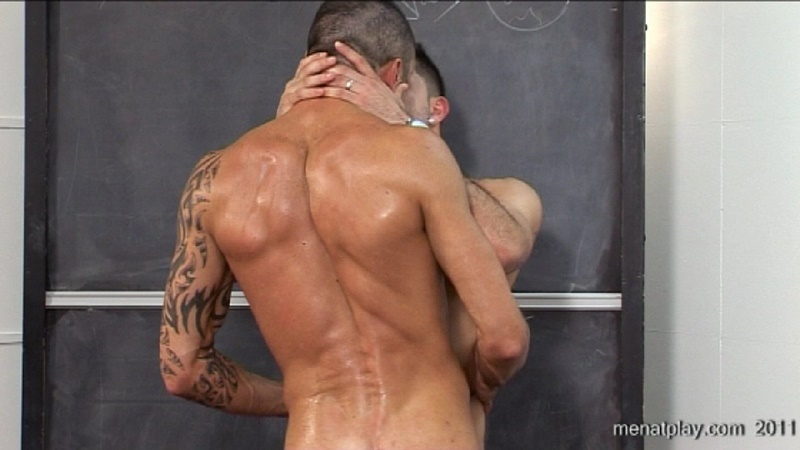 MenatPlay movie French Lessons tattooed muscle hunks Harry Louis Issac Jones huge thick uncut dick ripped muscled butt anal rimming 033 gay porn sex gallery pics video photo - Men at Play - French Lessons with Harry Louis and Issac Jones