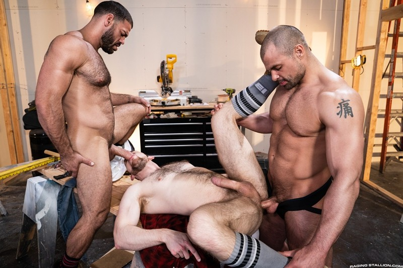 Men for Men Blog Gay-Porn-Pics-013-Ricky-Larkin-Jaxx-Thanatos-Kurtis-Wolfe-Hardcore-gay-threesome-spit-roast-hot-asshole-RagingStallion Hardcore gay threesome Ricky Larkin and Jaxx Thanatos spit roast Kurtis Wolfe's hot asshole Raging Stallion