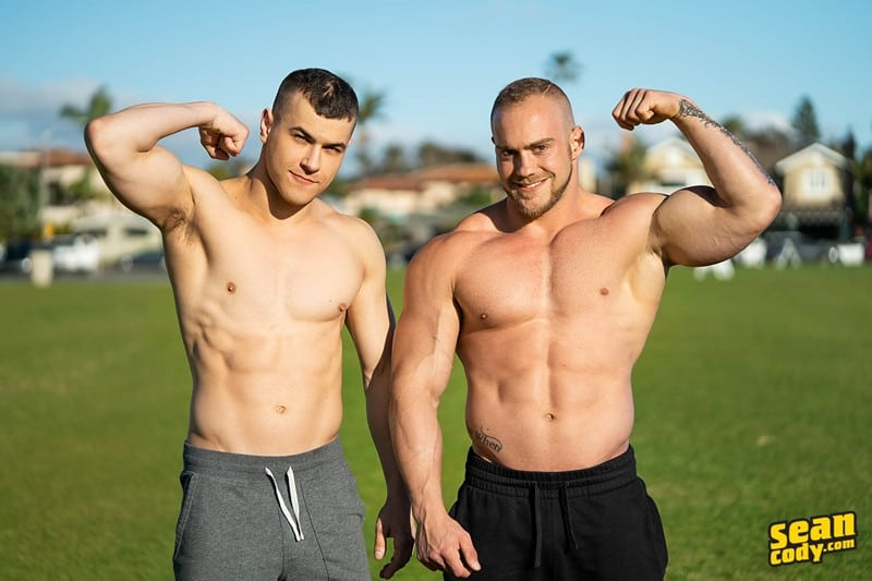 Brock Ayden hot naked muscle men barebacking deep raw ass fucking SeanCody 003 gay porn pics - Sean Cody Brock and Ayden barebacking deep raw ass fucking