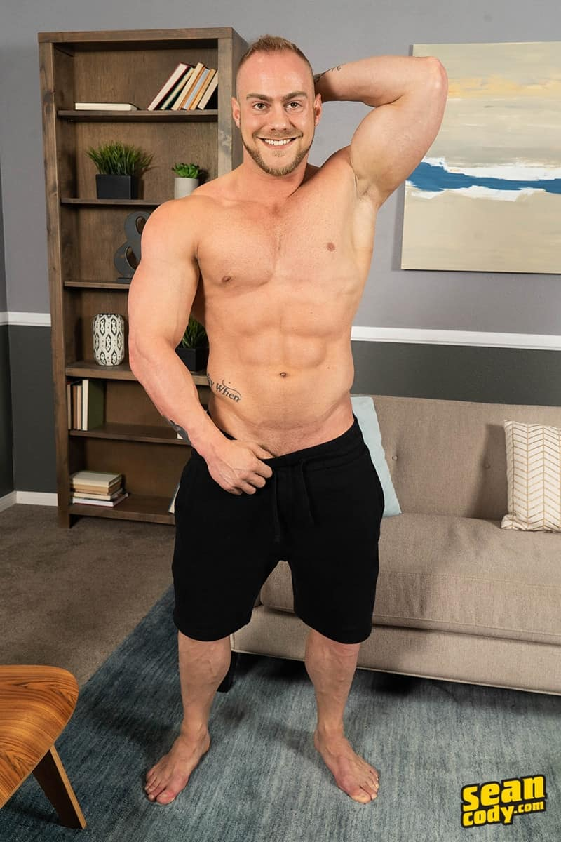 Brock Ayden hot naked muscle men barebacking deep raw ass fucking SeanCody 007 gay porn pics - Sean Cody Brock and Ayden barebacking deep raw ass fucking