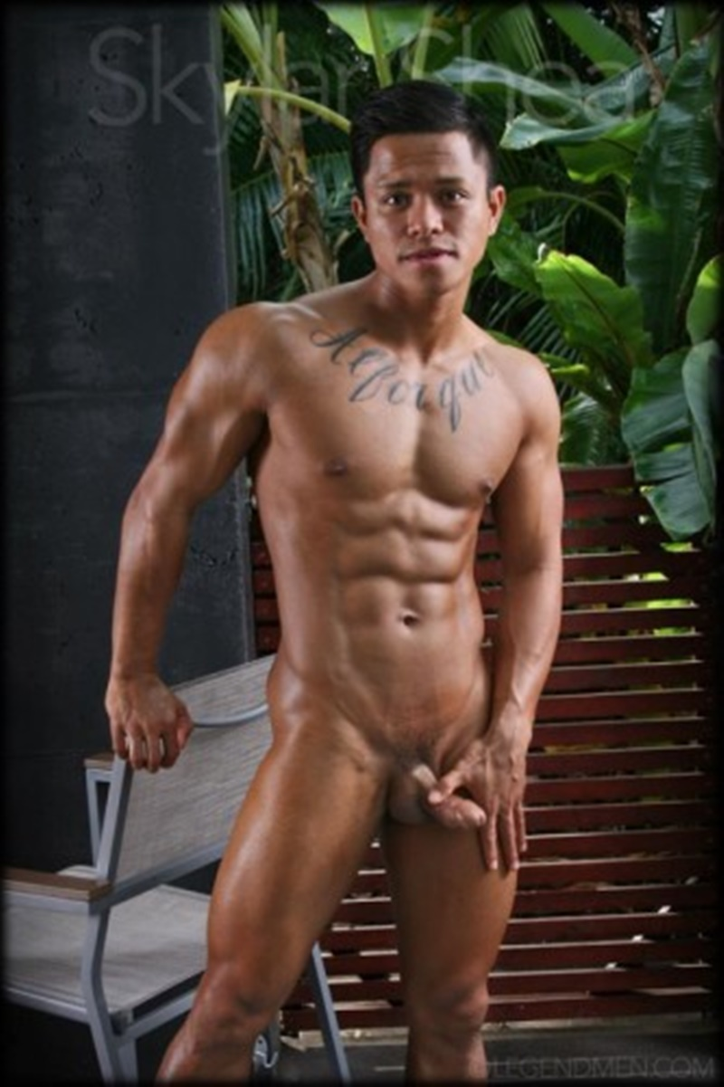 LegendMen sexy big black muscle nude bodybuilder Skylar Shea huge ebony dick ripped six pack abs tattoo smooth chest arms 010 gay porn sex gallery pics video photo - Gorgeous big muscle boy Skylar Shea packs out his assless jockstrap