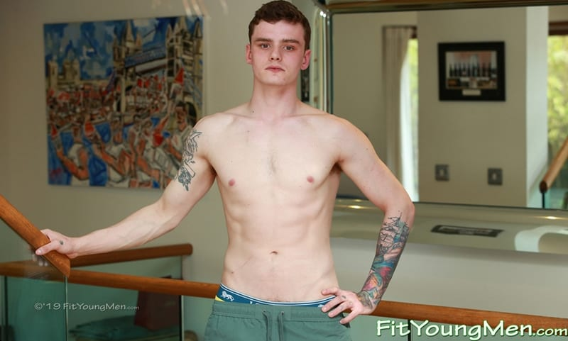 Hot ripped boxer Kieran Mills strips naked sexy undies boxing boots socks jerking huge uncut cock FitYoungMen 001 Gay Porn Pics - Hot ripped boxer Kieran Mills strips down to his sexy undies and boxing boots and socks before jerking his huge uncut cock