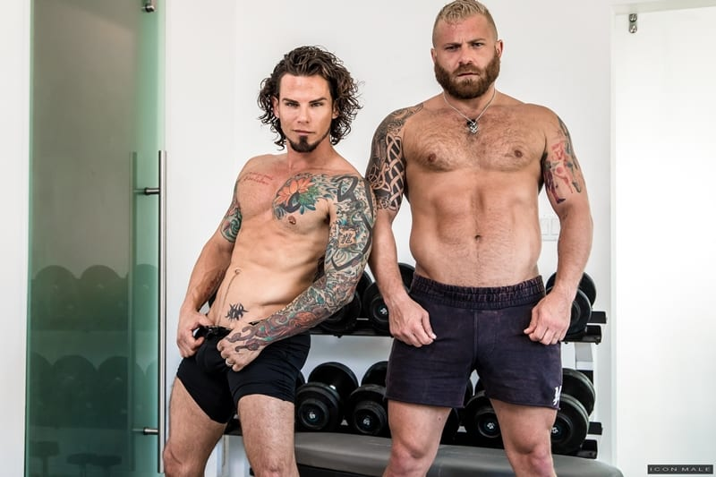 IconMale Tattooed young stud Archer Croft hot ass fucked hard older muscle guy Riley Mitchell huge cock 001 Gay Porn Pics - Tattooed young stud Archer Croft's hot ass fucked hard by older muscle guy Riley Mitchell's huge cock