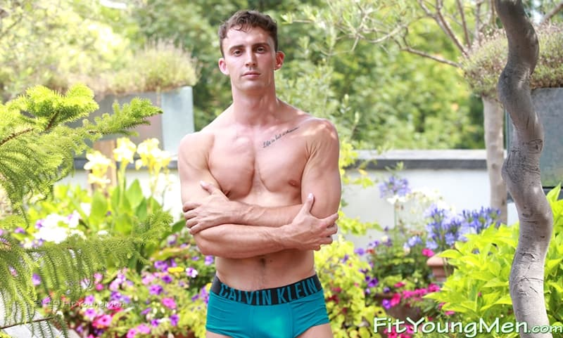 Ripped young straight gymnast Carter Lewis tight sexy undies huge crotch bulge FitYoungMen 001 Gay Porn Pics - Ripped young straight gymnast Carter Lewis strips down to his tight sexy undies showing his huge crotch bulge