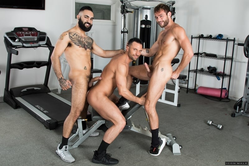 Hottie threesome Max Adonis Colby Tucker Zaddy train chain ass fucking IconMale 001 Gay Porn Pics - Hottie threesome Max Adonis, Colby Tucker and Zaddy train chain ass fucking