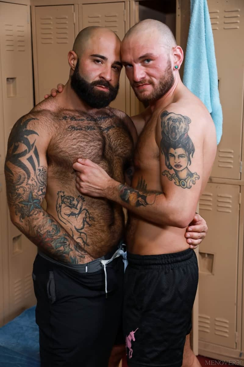 Hairy muscle bear Atlas Grant rims Gustav Netto tight ass hole thick erect cock 004 gayporn pics - Hairy muscle bear Atlas Grant rims Gustav Netto's tight ass hole getting it ready for this thick erect cock