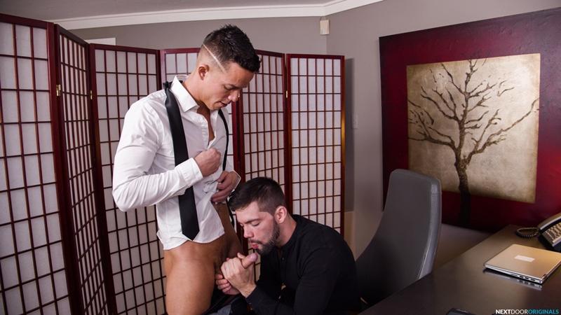 Hot new boss Julian Brady fucking Nic Sahara huge dick all way up ass 001 porn pics - Hot new boss Julian Brady takes Nic Sahara's huge dick all the way up his ass